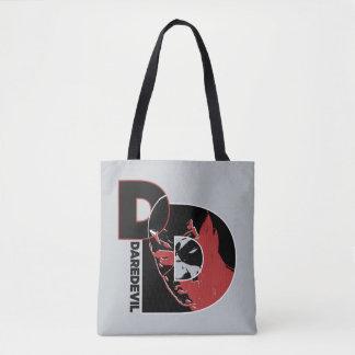 Daredevil Face In Logo Tote Bag