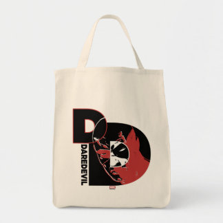 Daredevil Face In Logo Tote Bag