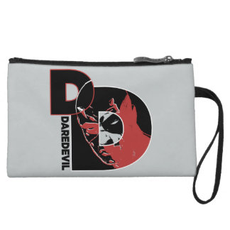 Daredevil Face In Logo Wristlet