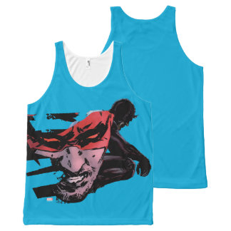 Daredevil Face Silhouette All-Over-Print Tank Top