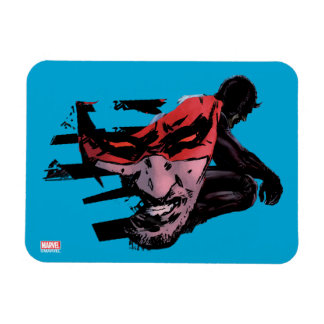 Daredevil Face Silhouette Magnet