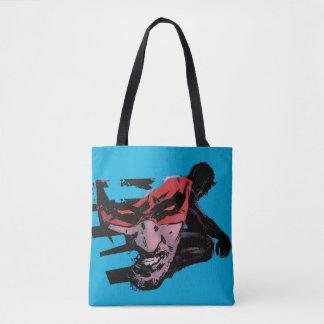 Daredevil Face Silhouette Tote Bag