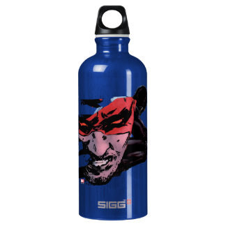 Daredevil Face Silhouette Water Bottle