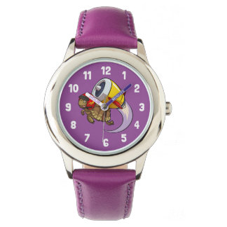 Daredevil Flying Tortoise with a Jet Pack Cartoon Watch