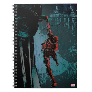 Daredevil Hanging From A Ledge Notebooks