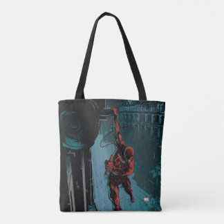 Daredevil Hanging From A Ledge Tote Bag