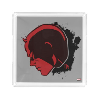 Daredevil Head Profile Acrylic Tray