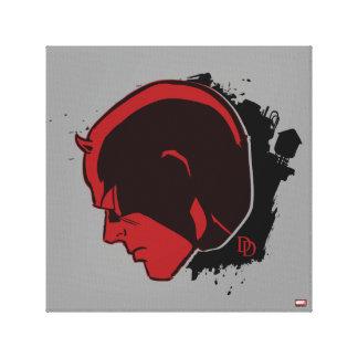 Daredevil Head Profile Canvas Print