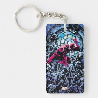 Daredevil Inside A Church Double-Sided Rectangular Acrylic Keychain