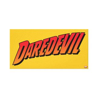 Daredevil Name Logo Canvas Print
