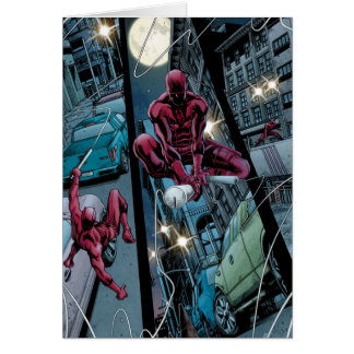 Daredevil Running Through The City Card