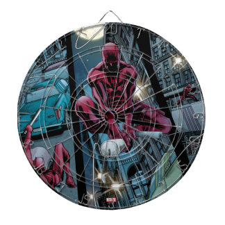 Daredevil Running Through The City Dartboard With Darts