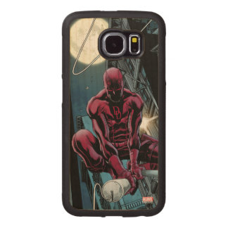 Daredevil Running Through The City Wood Phone Case