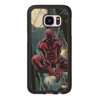 Daredevil Running Through The City Wood Samsung Galaxy S7 Case