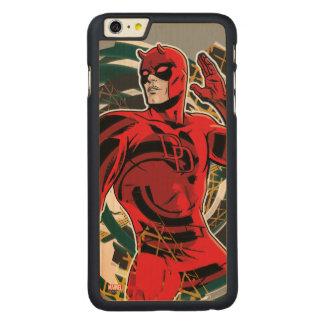 Daredevil Sensory Swirl Carved Maple iPhone 6 Plus Case