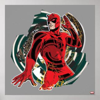 Daredevil Sensory Swirl Poster