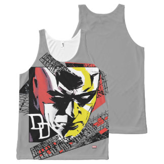 Daredevil Tri-Color Scaffolding Graphic All-Over-Print Tank Top