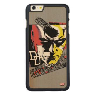 Daredevil Tri-Color Scaffolding Graphic Carved Maple iPhone 6 Plus Case