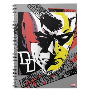 Daredevil Tri-Color Scaffolding Graphic Spiral Notebook