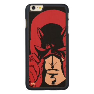 Daredevil's Mask Carved Maple iPhone 6 Plus Case