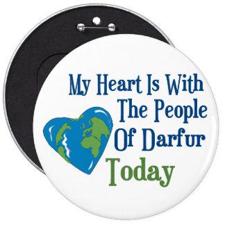 Darfur Heart 2 6 Inch Round Button