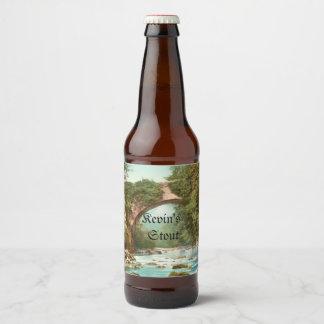 Dargle Bridge In Ireland Personalized Beer Bottle Label