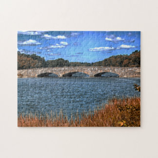 Darien  Bridge Connecticut. Jigsaw Puzzle