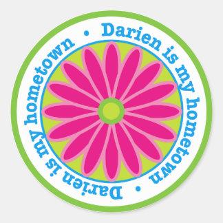 Darien Hometown Flower Sticker