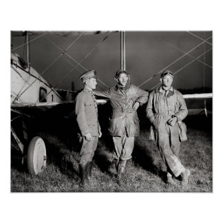Daring Aviators, 1919. Vintage Photo Poster