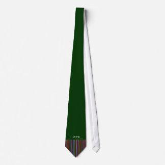 Daring ties collection dark green  tie A unique!