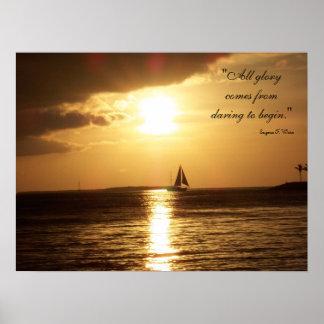 """Daring to Begin"" Sailing Poster"