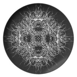 dark 666 dinner plate