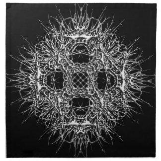 dark 666 printed napkins