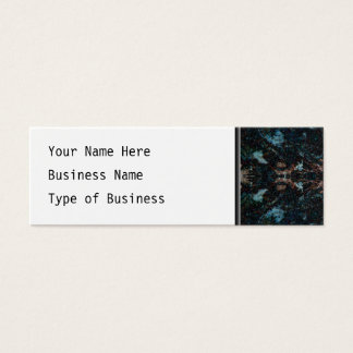 Dark Abstract Design with Some Soft Edges. Mini Business Card