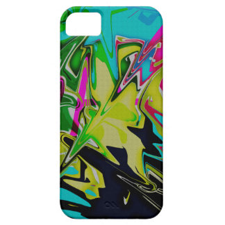 Dark Abstract Molten Color Drip iPhone 5 Cases