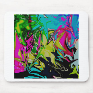 Dark Abstract Molten Color Drip Mouse Pad