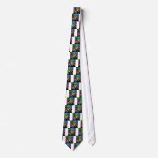Dark Abstract Molten Color Drip Tie