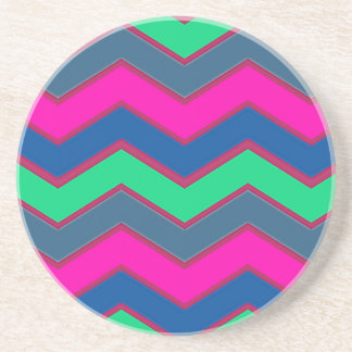 Dark and Bold Zigzags Drink Coaster