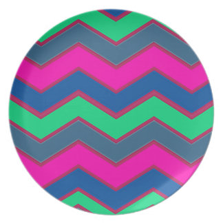 Dark and Bold Zigzags Party Plate