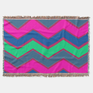 Dark and Bold Zigzags Throw Blanket