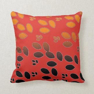 Dark and bright orange throw pillows