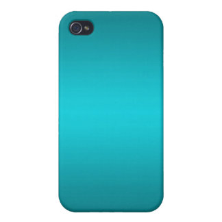 Dark and Light Aqua Blue Gradient - Turquoise Cover For iPhone 4