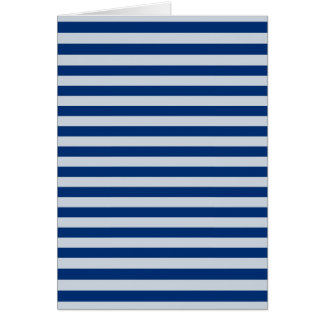 Dark and Light Blue Stripes Card