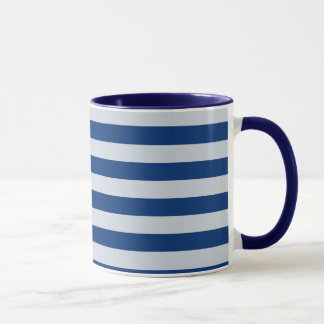 Dark and Light Blue Stripes Mug