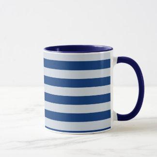 Dark and Light Blue Stripes Mug