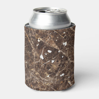 Dark And Light Brown Marble Stone With White Can Cooler