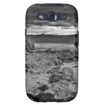 Dark and stormy beach in Cornwall Galaxy SIII Cases