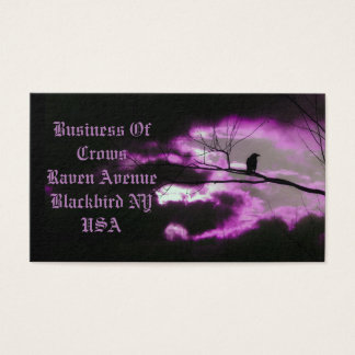 Dark And Unique Crow Business Card