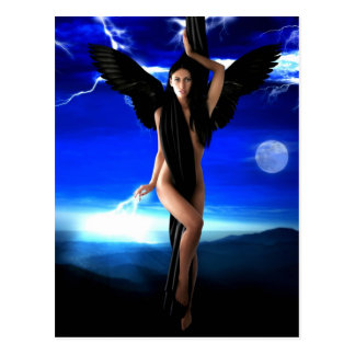 Dark angel,goddess divine, shaman woman, shakti postcard