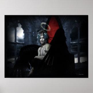 Dark Angel Goth Art Male Pinup Poster